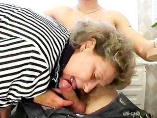 shaved sexy chap fucks grandma to ecstasy